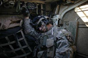 soldier sleeping